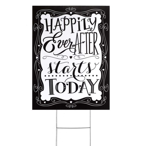 Happily Ever After Yard Sign