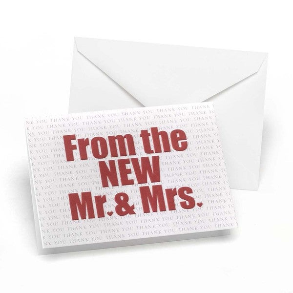 The New Mr. and Mrs. Thank You Notes