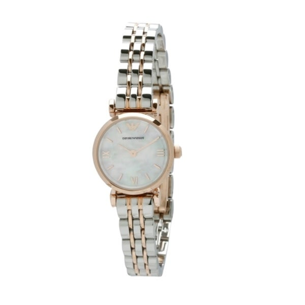 Armani Women's AR1764 Retro White Mother of Pearl Watch