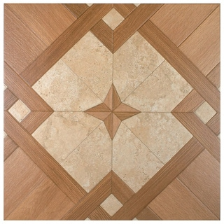 SomerTile 17.75x17.75-inch Oslo Caoba Ceramic Floor and Wall Tile (Case of 8)