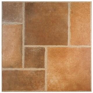 SomerTile 17.75x17.75-inch Sherlock Rojo Ceramic Floor and Wall Tile (Case of 8)
