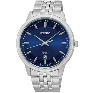 Seiko Men's SUR029 Classic Blue Dial Stainless Steel Watch