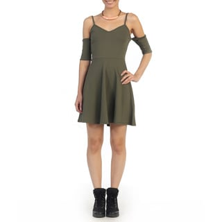 Hadari Juniors Olive Sweetheart Shift Dress
