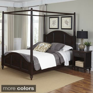 Home Styles Bermuda Canopy Bed and Night Stand