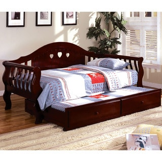 Furniture of America Tiffies 2-Piece Cherry Daybed with Trundle Set