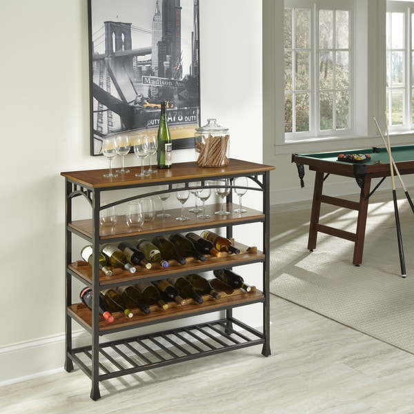 Modern Craftsman Wine Storage Rack