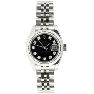 Pre-owned Rolex Women's Datejust Stainless Steel Jubilee Diamond Dial Watch