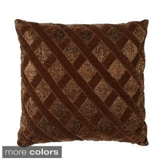 Arabella Basketweave Beaded 16-inch Throw Pillow
