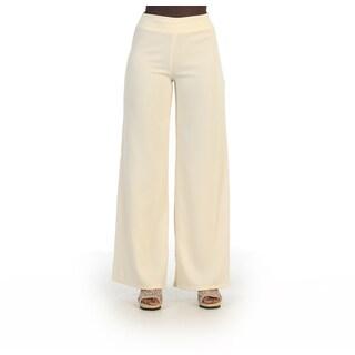 Hadari Women's Long Wide Straight Leg Pants