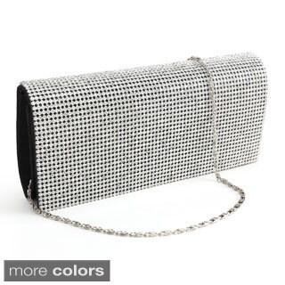 Women's Shimmering Diamante Cover Clutch Handbag