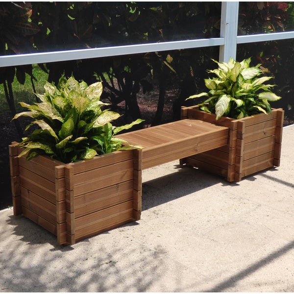 Thermod Modula Planter Box Bench