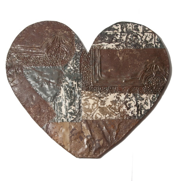Ozark Folk Art Reclaimed Tin Heart