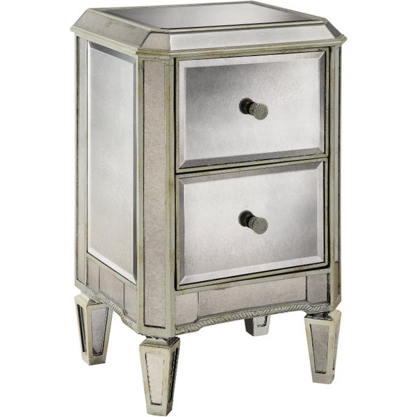 Sherridon Antique Silvertone and Mirrored Chest