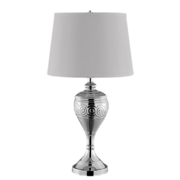 Norey Reflective Silvertone Metal Table Lamp