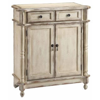 Heidi Distressed Creamy Vintage Accent Chest