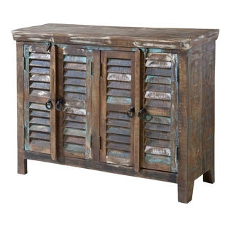 Bramore Spice Road Finish Louvered Door Cabinet
