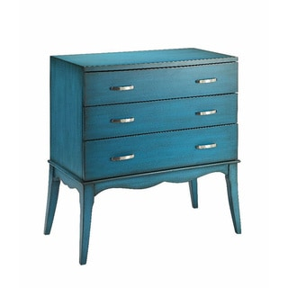 Blue 3-drawer Accent Chest