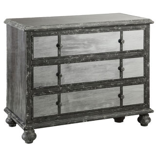 Freemark Antique Black and Mirrored Three-drawer Chest