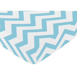 Sweet Jojo Designs Turquoise Chevron Fitted Crib Sheet