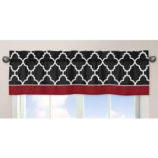 Sweet Jojo Designs Red and Black Lattice Window Valance