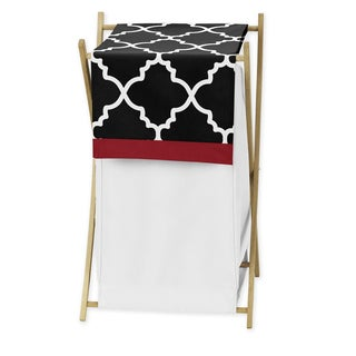 Sweet Jojo Designs Red and Black Lattice Laundry Hamper