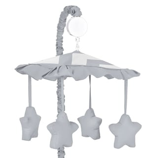 Sweet Jojo Designs Grey Chevron Musical Crib Mobile