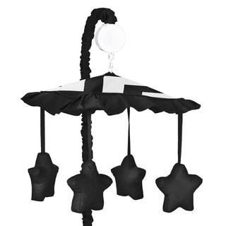 Sweet Jojo Designs Black Chevron Musical Baby Crib Mobile