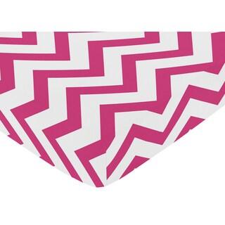 Sweet Jojo Designs Pink Chevron Fitted Crib Sheet