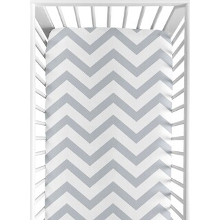 Sweet Jojo Designs Grey Chevron Fitted Crib Sheet