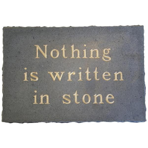 'Written in Stone' Stone Wall Plaque