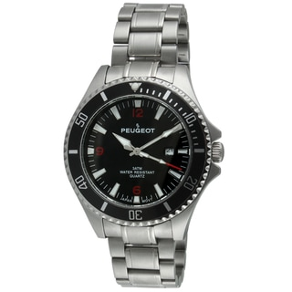 Peugeot Men's 1031BK Black Dial Sport Bezel Watch