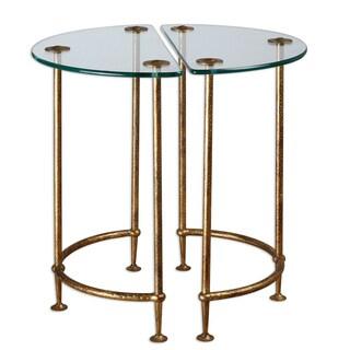 Aralu Antique Gold Side Table (Set of 2)