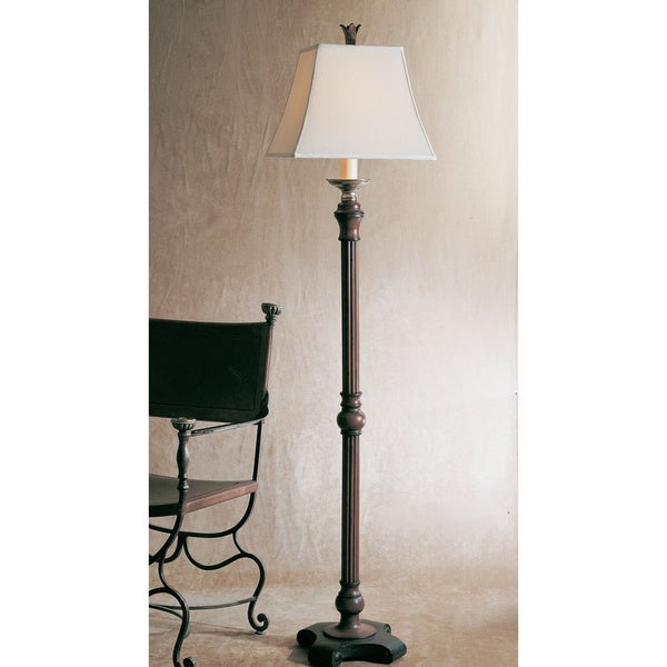 Uttermost Nathan Mahogany 1-Light Floor Lamp