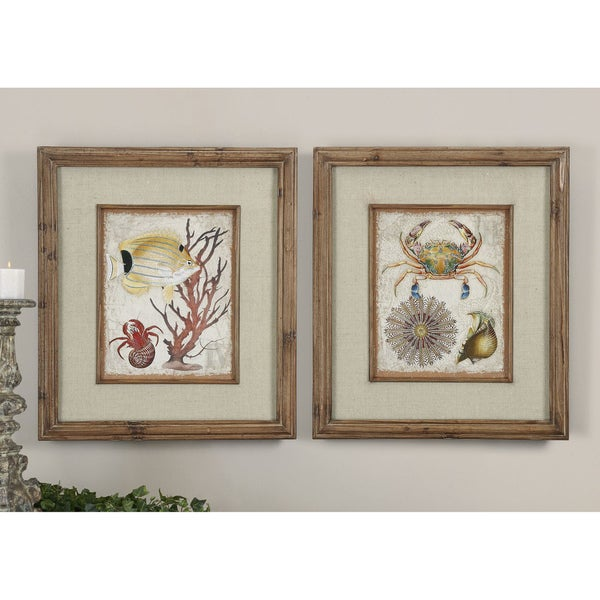 Uttermost Tropical Waters Canvas (Set of 2)
