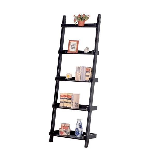 Black Mahogany Ladder Bookcase