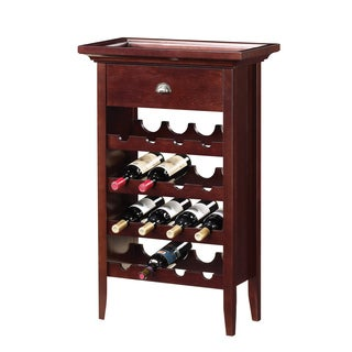 Cherry Finish 16-bottle Wine Rack