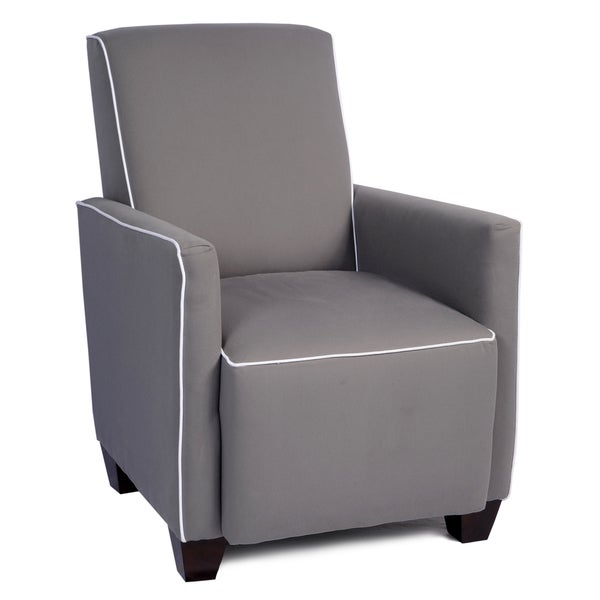 LCFC Home Lullaby Thunderbolt Grey Armchair with White Piping