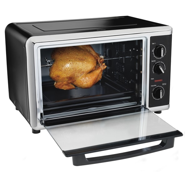 Hamilton Beach Black Countertop Oven with Convection and Rotisserie 13585551