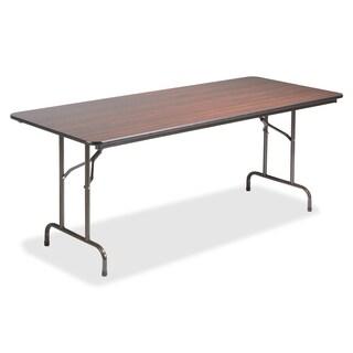 Lorell LLR65761 Mahogany 96-inch Economy Folding Table