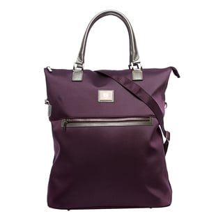 Anne Klein Eggplant Over Nite 20-inch Fold-over Tote Bag