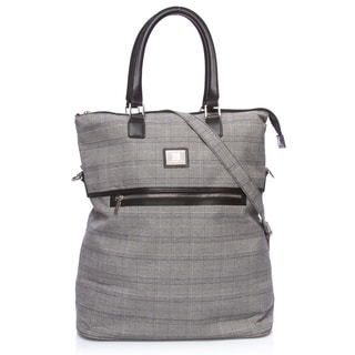 Anne Klein Calgary Plaid 20-inch Fold Over Tote Bag
