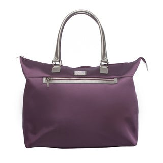 Anne Klein Eggplant Overnight 20-inch Travel Tote