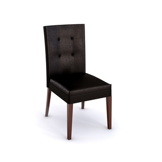 Melbourne Medium Cherry Faux Leather Parsons Chair