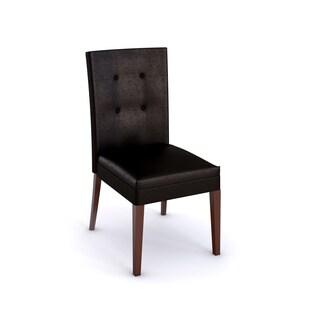 Greyson Living Melbourne Medium Cherry Faux Leather Parsons Chair