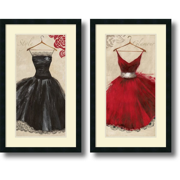 Aimee Wilson 'Style and Glamour- set of 2' Framed Art Print 19 x 31-inch Each