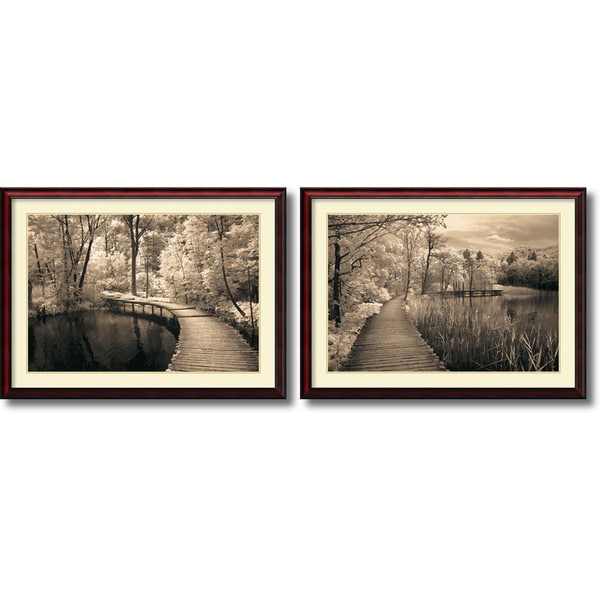 Ily Szilagyi 'Take My Lead- set of 2' Framed Art Print 43 x 32-inch Each