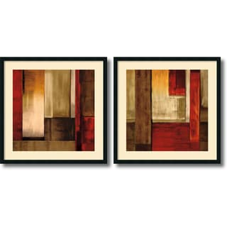 Aaron Summers 'Crossover- set of 2' Framed Art Print 34 x 34-inch Each