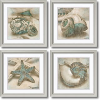 John Seba 'Coastal Gems- set of 4' Framed Art Print 29 x 29-inch Each
