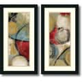 Tom Reeves 'Elemental Circles- set of 2' Framed Art Print 14 x 26-inch Each