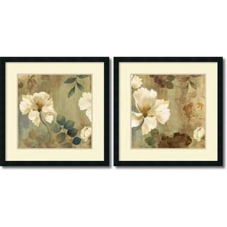 Asia Jensen 'Golden Spaces- set of 2' Framed Art Print 26 x 26-inch Each
